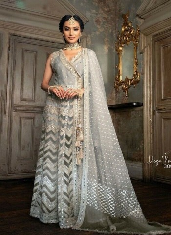 Anarkali Crossline Grey